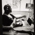 DJing to fellow patients at Sloan Kettering while hooked up to my chemotherapy...because Music Heals
