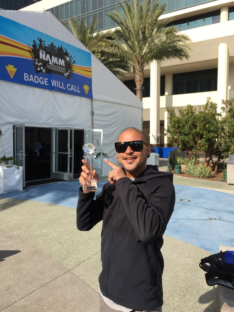 Winners are grinners @ NAMM Show California