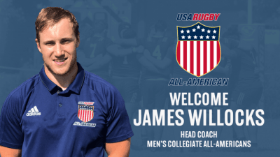 James Willocks Becomes Men's Collegiate Rugby Head Coach