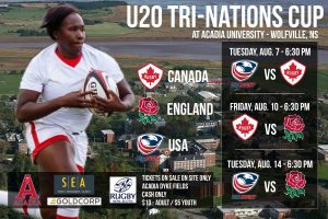 Tri-Nations Cup Women's Rugby U20s Squads: Canada, England, USA