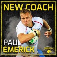 Houston SaberCats Add Paul Emerick as Skills Coach