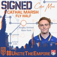 Rugby United New York Signs Leinster Flyhalf Cathal Marsh