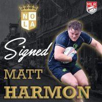 NOLA Gold Rugby Signs Collegiate All-American Matt Harmon