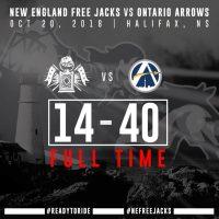Ontario Arrow Spoil New England Free Jacks Debut