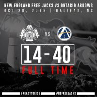 Ontario Arrow Spoil New England Free Jacks Debut