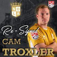 New Orleans Gold Re-Signs Cam Troxler