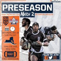 Rugby United New York vs Capital Rugby Union Selects