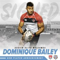 Austin Elite Rugby Signs Dominique Bailey