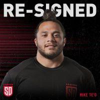 San Diego Legion Re-Signs Mike Te'o