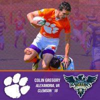 Glendale Raptors Sign Colin Gregory