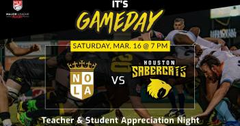 Houston SaberCats Host NOLA Gold Rugby Club