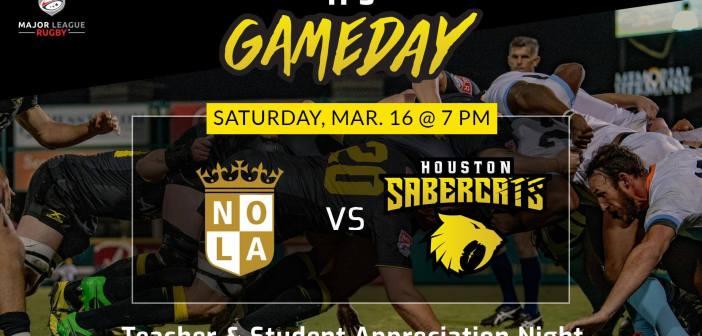 Houston SaberCats Host NOLA Gold Rugby Club