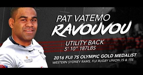 Utah Warriors Signs Vatemo Ravouvou