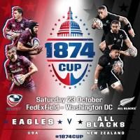 USA to Host All Blacks at FedEx Field October 23