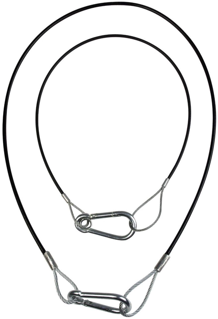 ShowTec Safety Cable, light duty 2/3 mm, 50cm met Zwart
