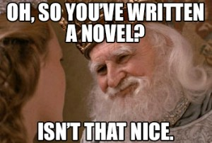 So you've written a novel meme