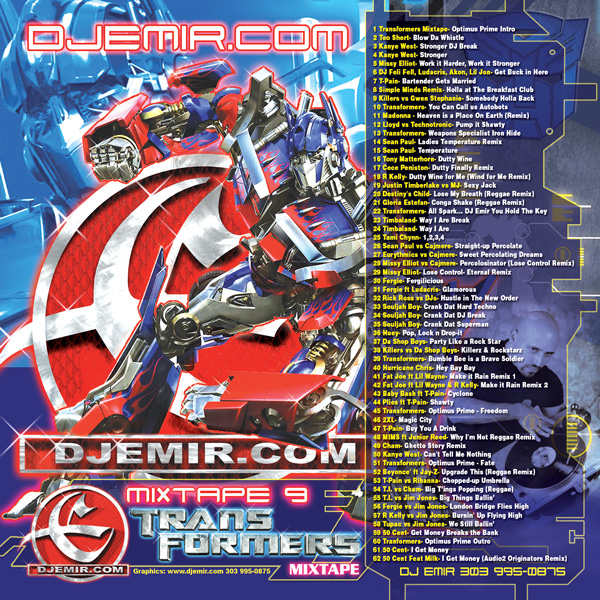 Transformers Mixtape CD