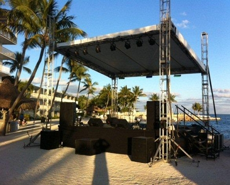 Rent 4x8 Concert or Performance Stage Section  DJ Peoples