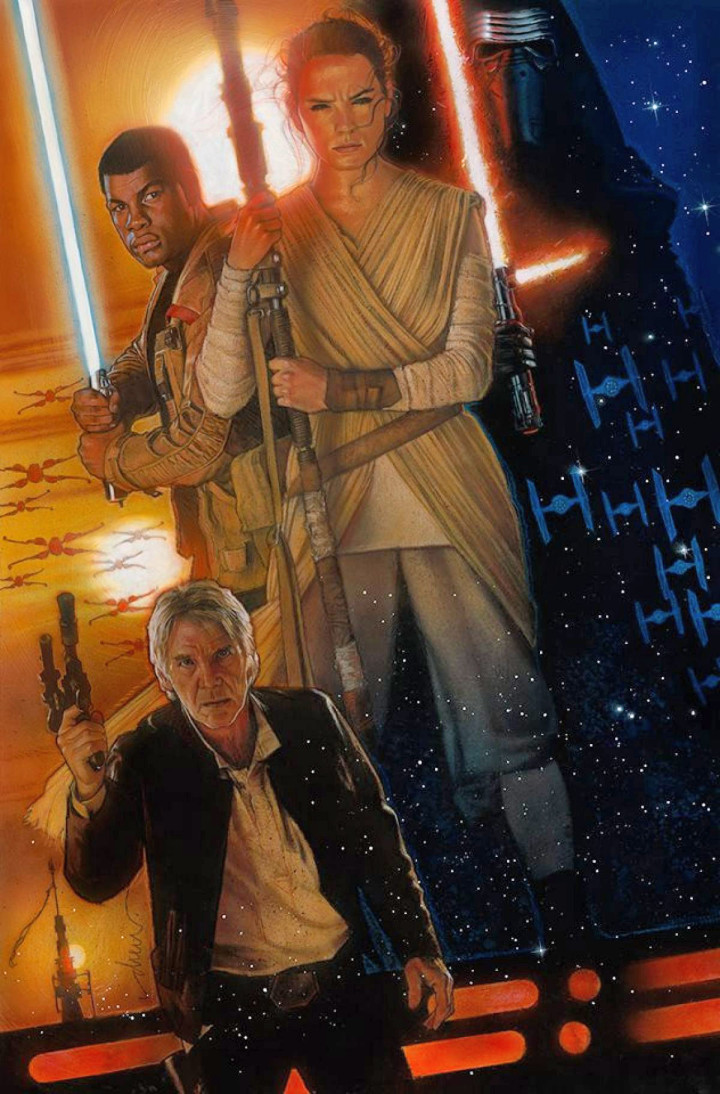 Star Wars  The Force Awakens Poster By Drew Struzan  Dj Food