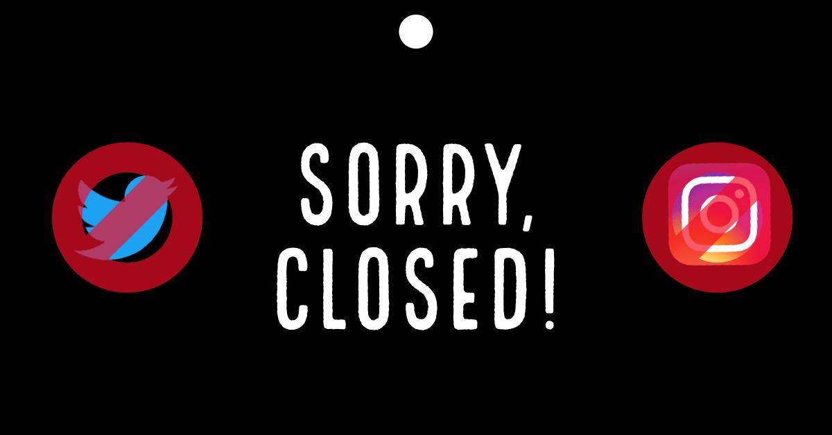 Social Media Closed - DJFredo.com - The Groove Blog