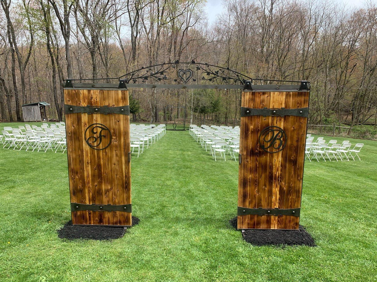 Austin & Auberly - April 16 - Wedding Recap Ceremony Doors