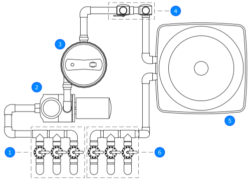 small resolution of solar pool heat plumbing drawing