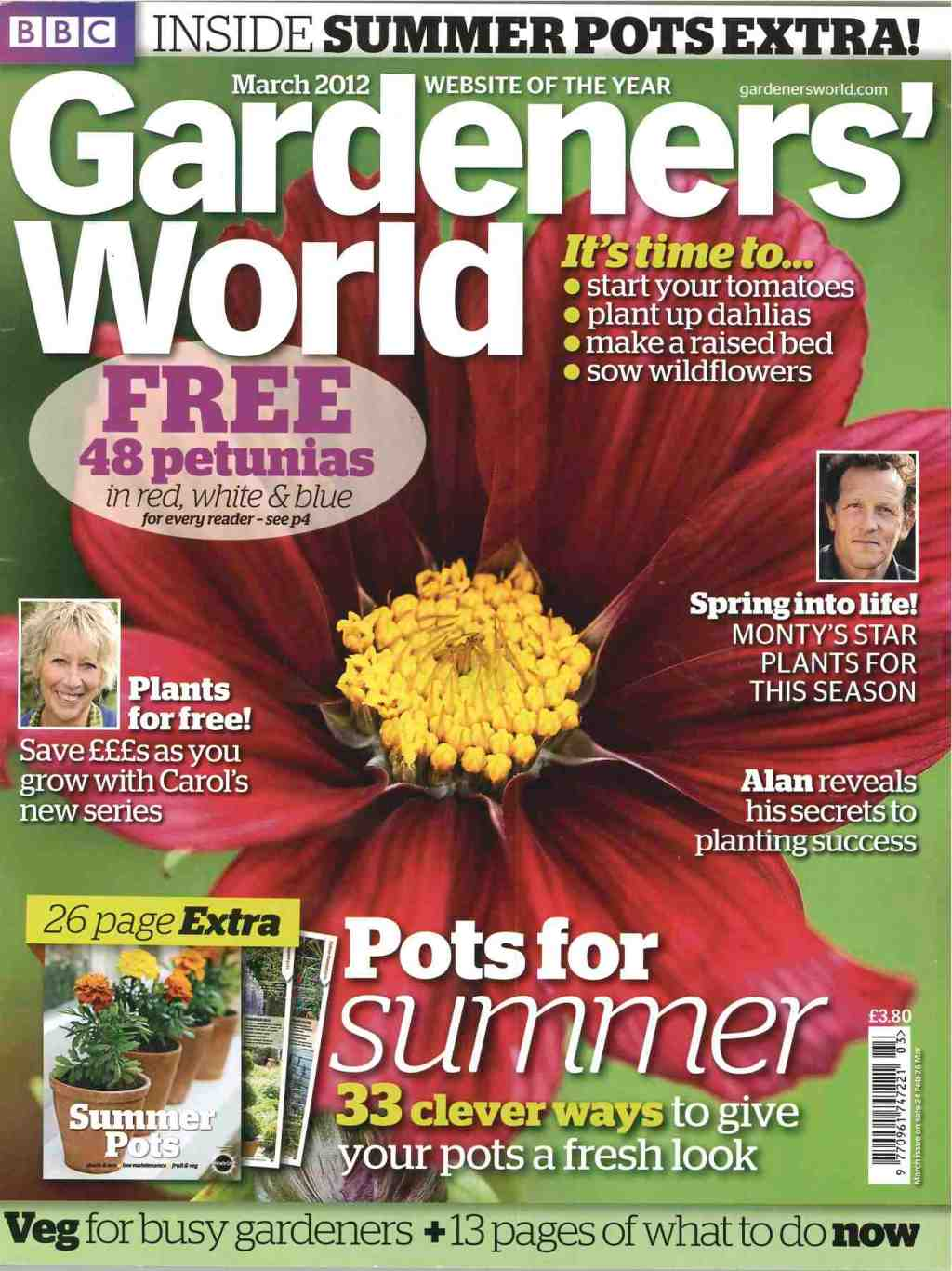 Gardeners World has a circulation of over 200,000
