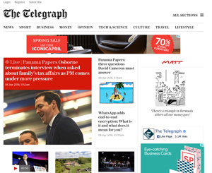 Daily Telegraph Media News