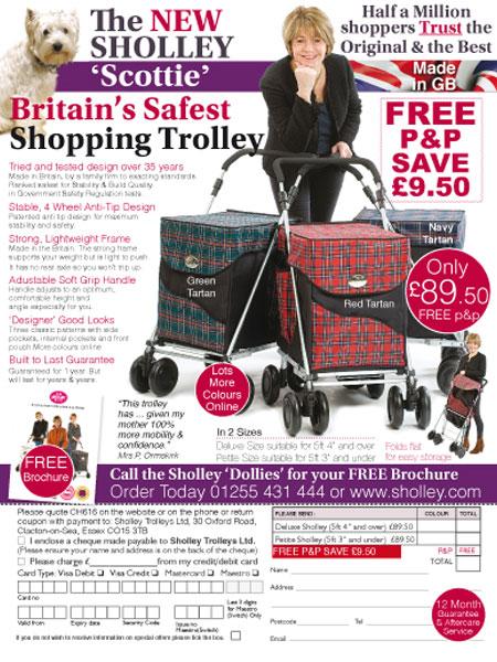 Sholley Trolleys Response Advertising, Response Advertising, Advertising to the Grey market