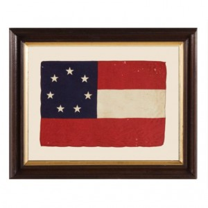 the first political flag of the Confederacy. this flag often serves as a more subtle nod to the South