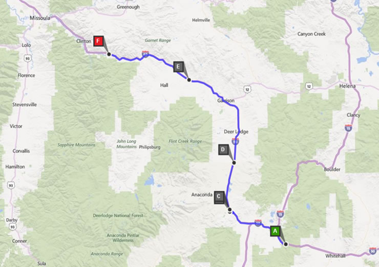 WW7D/M's 2015 IDQP Route, Day 1