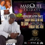 Friday Dec.4th / Marquee Fridays Snoop Dogg after concert party at The MINT / Scottsdale, AZ
