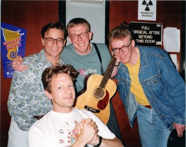 The Proclaimers, Kevin Weatherly and Jed The Fish in Burbank