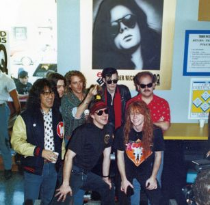 Andrew Eldritch of Sisters of Mercy, in-store appearance 1992