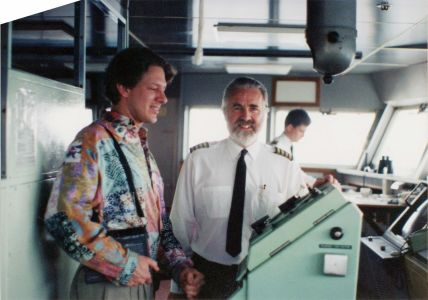 Jed and QE2 captain
