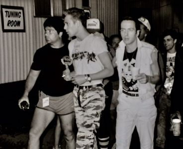 The Clash backstage
