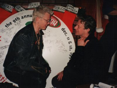 Billy Idol and Jed The Fish at the 1993 KROQ Almost Acoustic Christmas