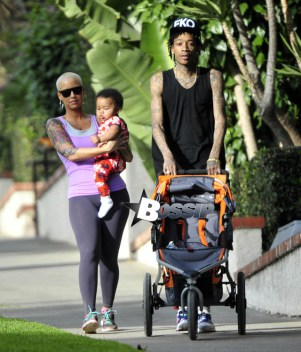 Diapers And Donks: Wiz Khalifa, Amber Rose And Baby Bash Stroll Runyon Canyon