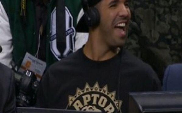 Drake Announces Starting Line Up At Toronto Raptors Game