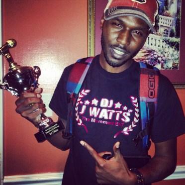DJ J Watts gets College Party DJ of Year Award 2014 @ #SCDJAwards