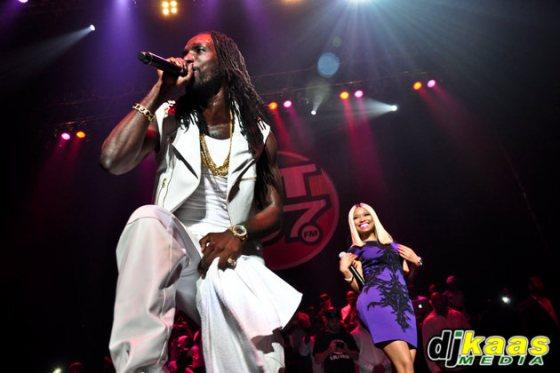 Mavado and Nicki Minaj in concert
