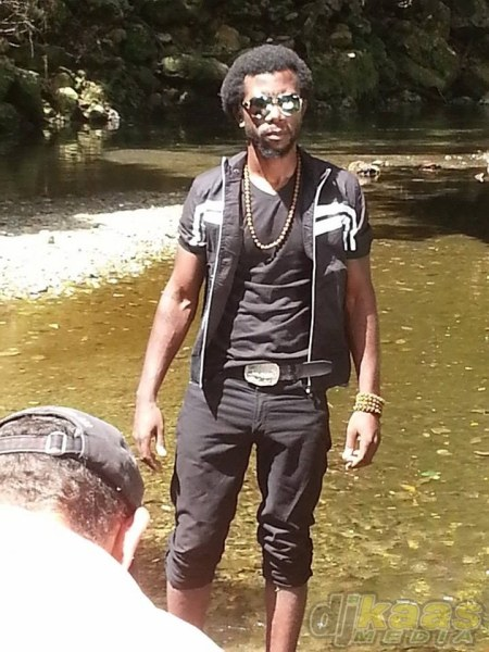 """King Fragrance during the video shoot for his hit single """"Africa"""""""