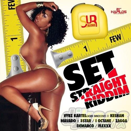 Set Straight Riddim (Front Cover)