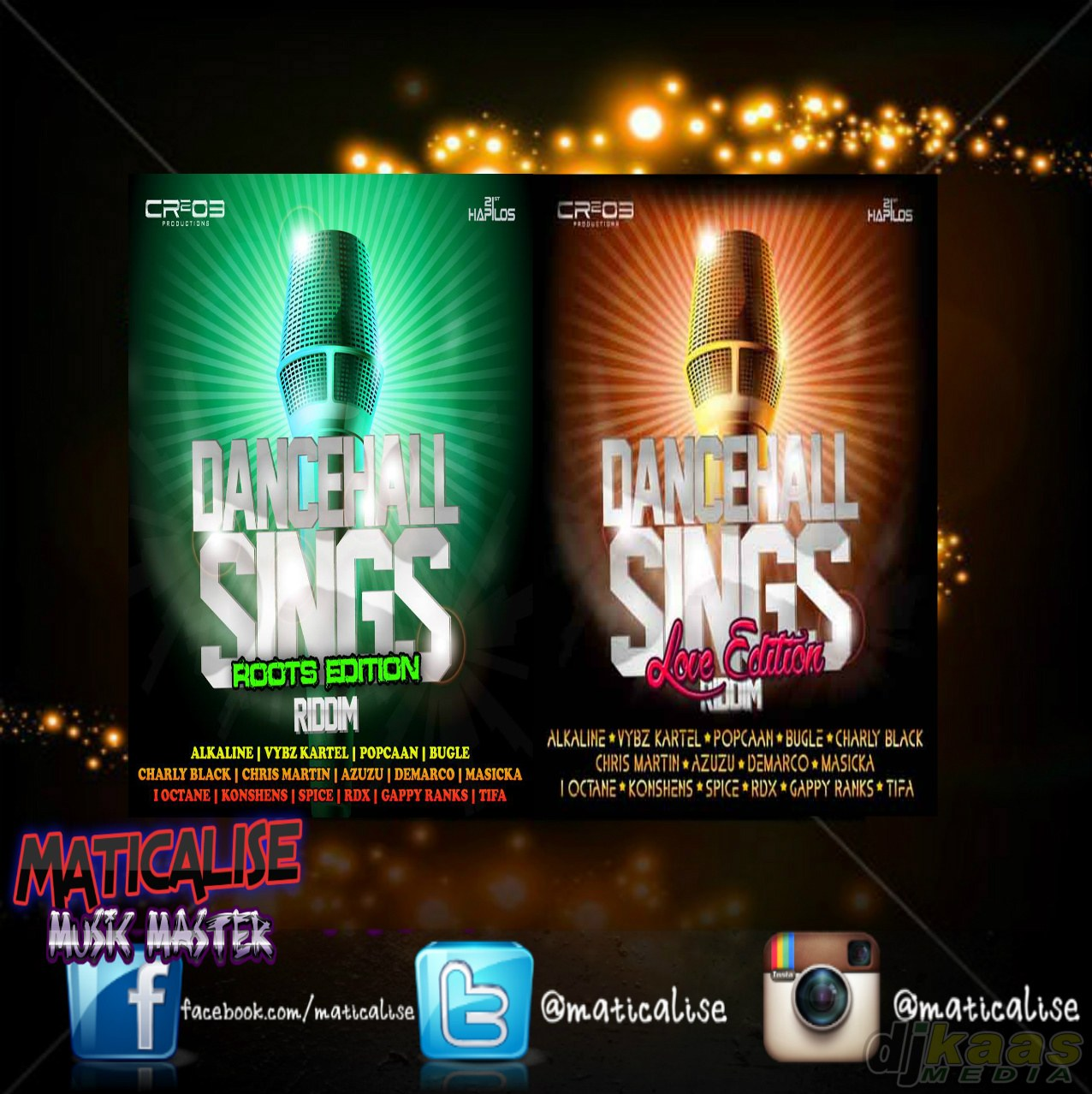 Dancehall Sings Riddim Mix (CR2O3 Records) February 2015 | DJ Kaas Media