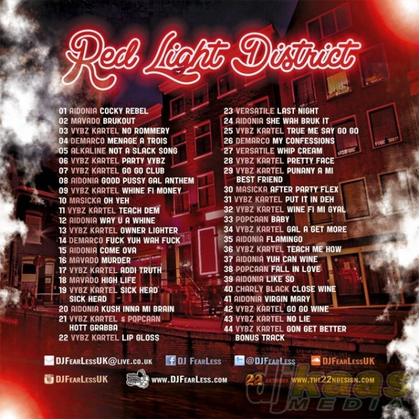 DJ FearLess - Red Light District Mixtape - Back