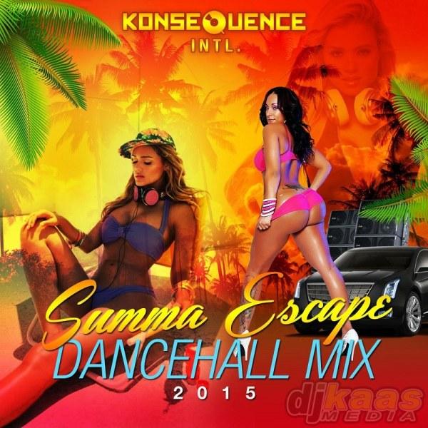 CD Cover- Summa Escape Dancehall 2015_Side 1