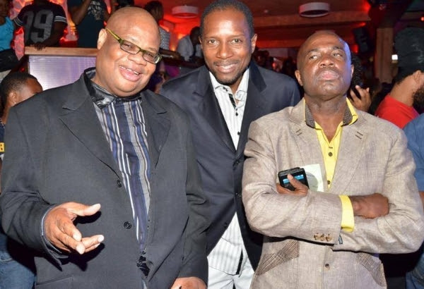 "(L-R) Sting directors - Junior ""Heavy-D"" Fraser, Dimario McDowell with CEO Isaiah Laing, celebrating at last year's launch."