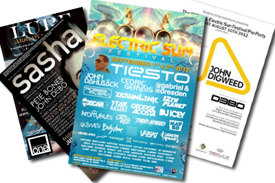Kinesis 2012 Event Flyers