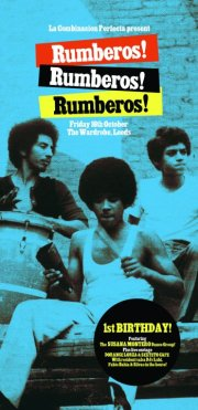 Rumberos blue percussionists