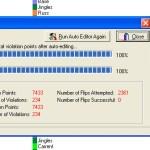 Окно Статуса Auto editor в Powergold